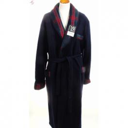 Robe de chambre homme laine des Pyrénées marine