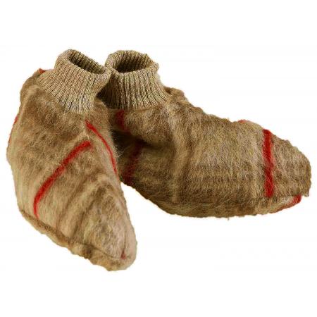 Chaussons laine des Pyrénées écossais vison