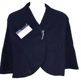 Chauffe épaules laine des Pyrénées marine