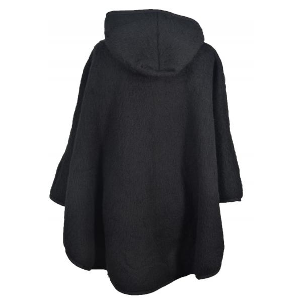 cape avec capuche laine des pyrenees noir. Black Bedroom Furniture Sets. Home Design Ideas