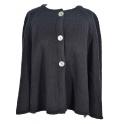 Cape courte laine des Pyrénées 3 boutons noir