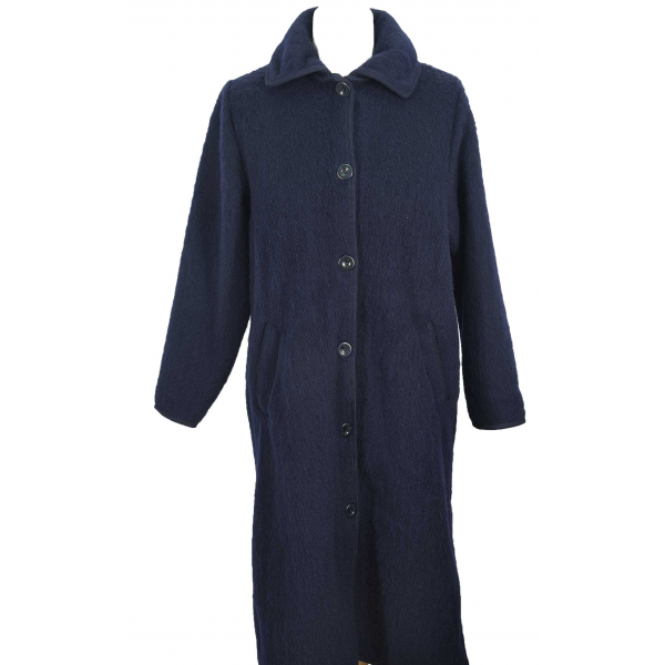 robe de chambre boutonnee 7 8 femme marine. Black Bedroom Furniture Sets. Home Design Ideas