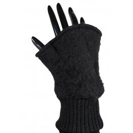 Mitaines laine des Pyrénées noir