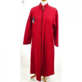 Robe d'hotesse zippée laine de Pyrénées griotte