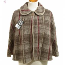 Pelerine laine des Pyrénées écossais vison