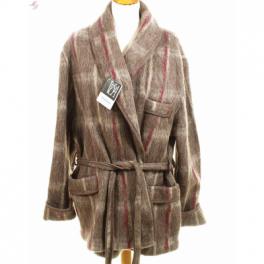 Veston homme laine des Pyrénées écossais daim