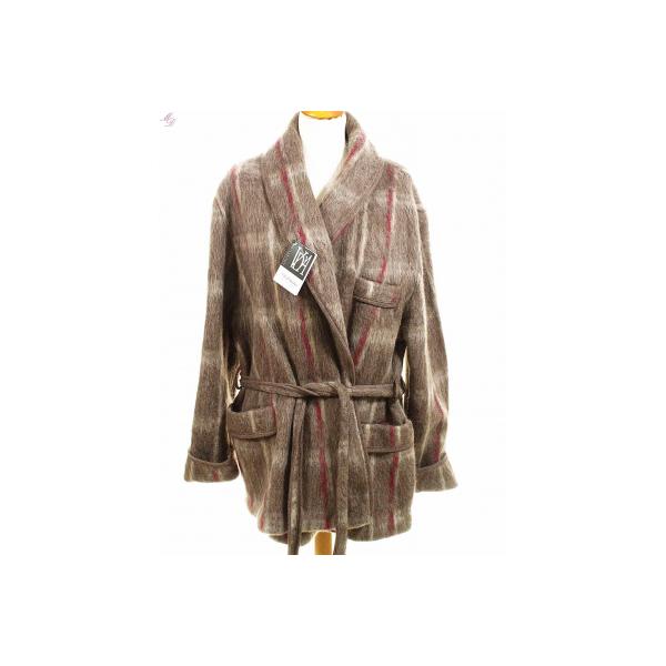 Veste d 39 int rieur homme laine des pyr n es ecossais marron - Robe de chambre homme laine des pyrenees ...