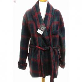 Veston homme laine des Pyrénées écossais marine