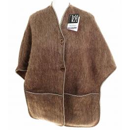 Poncho femme laine des Pyrénées vison