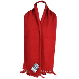 Echarpe laine des Pyrénées griotte